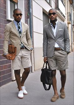 Who says shorts dont go suit jackets and ties.
