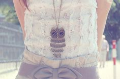 floral ruffles+owl
