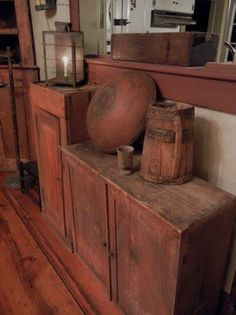 Old wooden pieces