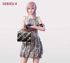 Lightning: A Virtual Heroine by Square Enix for #LVSERIES4  #LouisVuitton has always pushed the boundaries of reality and dreams. Real, virtual, incarnate, metaphorical: Lightning raises the question of immanence – that which takes place solely in the mind - in tomorrow's world @NicolasGhesquiere #LVSS16