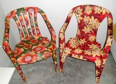 Meijuner Flower Printing Removable Chair Cover Big Elastic Slipcover Modern Kitchen Seat Case Stretch Chair Cover For Banquet-in Chair Cover from Home & Garden Painted Chairs, Hand Painted Furniture, Recycled Furniture, Recycled Crafts, Diy And Crafts, Arts And Crafts, Decoupage Chair, Office Chair Makeover, Stretch Chair Covers