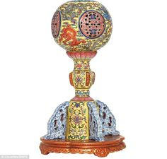 The hat stand (pictured), made between 1820 and 1850, was tipped to fetch £300,000 when it went under the hammer at Christie's yesterday but ended up making almost twice that