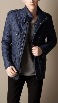 Diamond Quilted Field Jacket | Burberry
