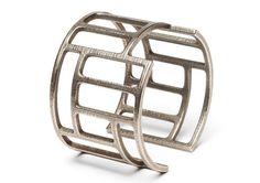 Silver 3D printed Cuff #3DPrinting #Fahion