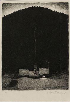 John Bauer - Lithograph 4 (1915) by Aeron Alfrey, via Flickr