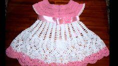 vestido a crochet para niña de 6 meses