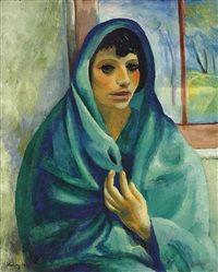 Jeune femme au châle vert, 1919