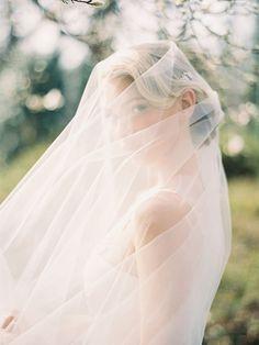 Voile de mariée en tulle fin