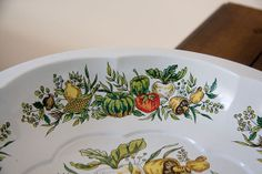Vegetable Tray Vintage Tray Metal Tray Garden by MollyFinds, $15.00