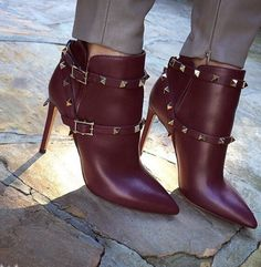 Bentleigh Maroon Leather Boots