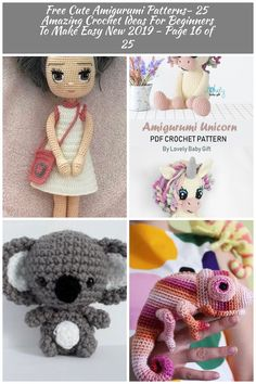 Awesome Amigurumi Crochet and Handicraft Doll for Your Kids! Amigurumi Animals Awesome Amigurumi Crochet and Handicraft Doll for Your Kids!