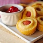 Corn Dogs Ever Use your favorite muffin mix or cornbread mix. Pour tray in muffin pan about 1/4 full and then cut your hotdogs in 1/3 and add to mix. Bake according to package directions or if you use you own cornbread mix, bake until golden brown! Add a cup of ketchup and the kids will have a blast and a good meal also!
