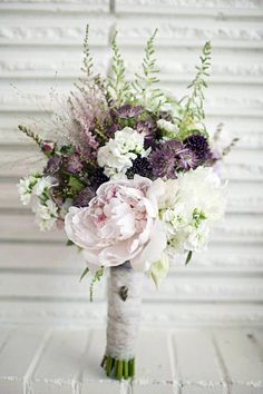 Pale Pink + Purple Bouquet