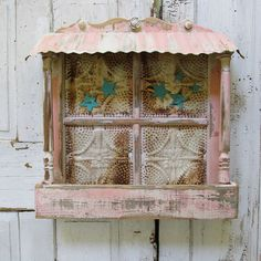 Planter box wall hanging shabby cottage chic by AnitaSperoDesign