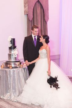 Dark Purple Pink And Blush Themed Ballerina Wedding At The Castle Hotel Captured By Top