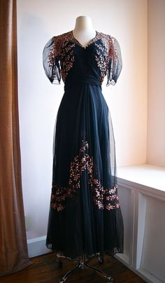 30s Dress // Vintage 1930s Evening Gown by xtabayvintage on Etsy(398)