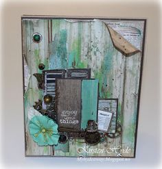 Kaisercraft card made with the Blue Bay collection by Kirsten Hyde