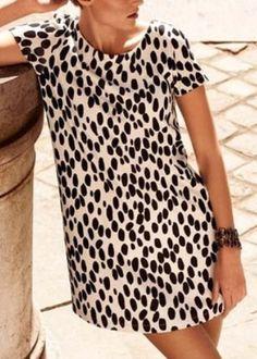 leopard mini dress.