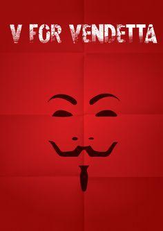 V for Vendetta [James McTeigue, 2005] «Minimalist Poster Movie Author: André Luiz Bianchini Aparecido»