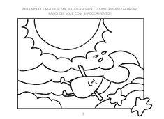 La maestra Linda: Le avventure di Gocciolina Language Activities, Arabic Calligraphy, Education, Gabriel, Blog, Winter Time, Weather, Environment, Spring