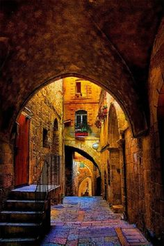 Jerusalem, The old city. شوارع القدس العتيقة