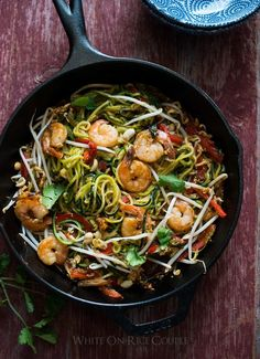Healthy Zucchini Noodle Pad Thai Recipe from @whiteonrice