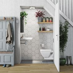Bathroom Mode Cooper Cloakroom Suite With Wall Hung Basin farming practices help pre Small Downstairs Toilet, Small Toilet Room, Downstairs Bathroom, Bad Inspiration, Bathroom Inspiration, Bathroom Design Small, Bathroom Interior Design, Bathroom Designs, Understairs Toilet