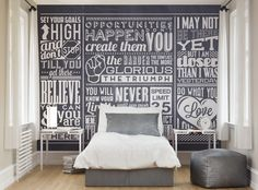 ohpopsi Chalk Quotes Wall Mural