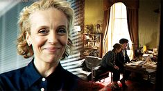 "Mrs Hudson taking Sherlock's hand when Mary's video starts. Sherlock S04 E01 ""The Six Thatchers"". Season 4."