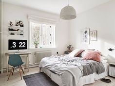 Light Grey Bedrooms on trend: copper blush | copper, save$$$ and all.