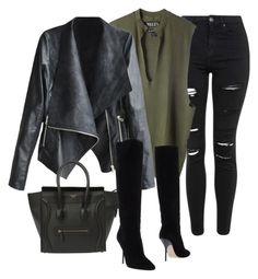 """""""Untitled #23"""" by toniannfratianni on Polyvore featuring Topshop, adidas Originals, CÉLINE, Jimmy Choo, women's clothing, women's fashion, women, female, woman and misses"""
