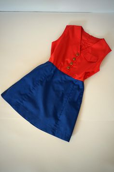 Vintage Camp Fire Girls Uniform Dress  FREE SHIPPING by fibbie, $19.00