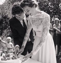 Les mannequins en blanc Bette Franke robe de mariée