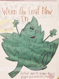 """When the Leaf Blew In""--verb activity"
