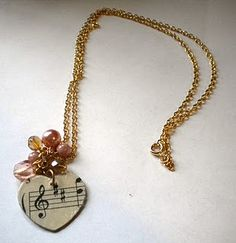 sheet music charm tutorial -- gift for piano students?