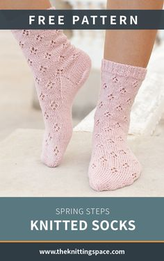 Pamper your toes with these delicate spring steps knitted socks. The beauteous knit lace pieces make for a great addition to every girls closet. Discover over Free knitting patterns at. Knitted Socks Free Pattern, Crochet Socks, Knitting Socks, Free Knitting, Crochet Pattern, Knit Socks, Knit Crochet, Fall Knitting Patterns, Lace Knitting Stitches