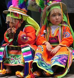 Children wearing indigenous art...beauty