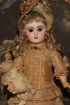 """17"""" All Original Maison Jumeau Bébé in Factory Couture and Signed from matrixqualityantiquedollsbymail on Ruby Lane"""
