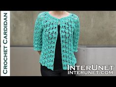 Crochet short-sleeve lace summer top – Green Zinnia cardigan sweater crochet pattern - YouTube