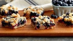 Fresh blueberries on a buttery cookie base and topped with a sweet crumble will be your new go-to summer bar. Made with Betty crocker sugar cookie mix. Just Desserts, Delicious Desserts, Dessert Recipes, Summer Desserts, Bar Recipes, Lemon Desserts, Fruit Recipes, Dessert Ideas, Summer Recipes