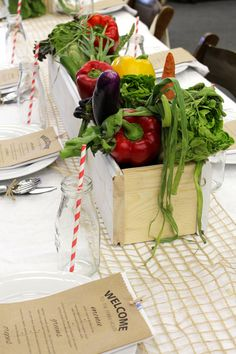 Teacher Appreciation Luncheon ~ Farmers Market Theme #GreenSalad #SensationalSides #FarmersMarket #TeacherAppreciation