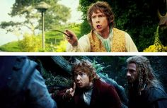 This is how Bilbo talks to wizards and royalty. You have to watch the gif!