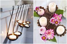 2012-11 Lieschen und Ruth Vintage Kerzen mit Küchenutensilien 1