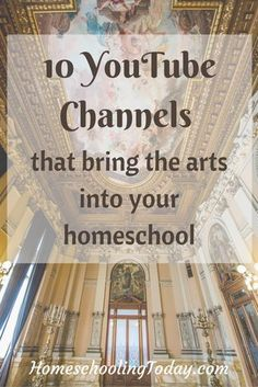 Learn: 10 You Tube Channels That Bring the Arts Into Your Homeschool. Classical Education, Kids Education, Education Quotes, Lapbook Templates, Homeschool Curriculum, Catholic Homeschooling, Online Homeschooling, Montessori Homeschool, Educational Videos