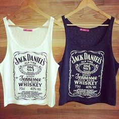 Jack Daniel's crop tops