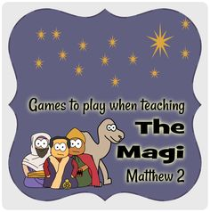 Games for the Magi / wise men / 3 kings. Christmas or Epiphany lesson. #Jesuswithoutlanguage