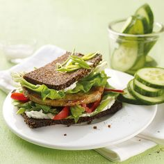 Warme sandwich Weight Watchers Lunches, Granola, Avocado Toast, Love Food, Feel Good, Healthy Recipes, Healthy Foods, Brunch, Low Carb
