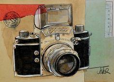 "Saatchi Art Artist Loui Jover; Drawing, ""exakta"" #art"