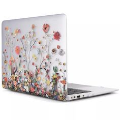 "Beautiful Rubberized 3D Flower Case For 2018 Macbook Pro 13/"" with//out Touch Bar"