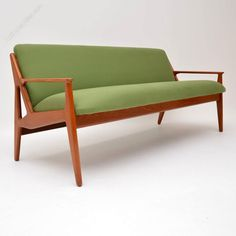 Antiques Atlas - Danish Teak Sofa By Arne Vodder Danish Sofa, Danish Furniture, Upholstered Furniture, Vintage Furniture, Garden Furniture, Modern Furniture, Retro Couch, Antique Couch, Mid Century Decor